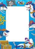 Squali del bordo - pirati Fotografie Stock