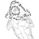 Squalo stilizzato astratto di B&W Fotografia Stock Libera da Diritti