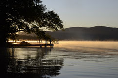Squam湖早晨 库存照片