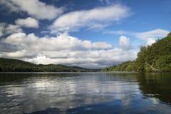 Squam湖,新罕布什尔 免版税库存照片
