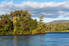 Squam lake on an october morning Stock Photos