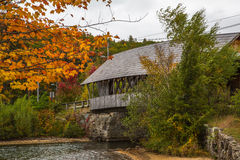 Squam river covered bridge Royalty Free Stock Images