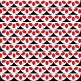 Squama pattern. Pattern of white squama with red ovals Stock Image