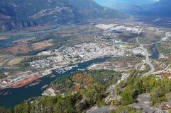 Squamish在不列颠哥伦比亚省,加拿大 免版税库存照片