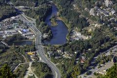 Squamish BC Kanada, Vogelansicht Stockbild
