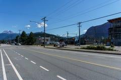 Squamish, Canadá - 22 de julho de 2018: Segunda avenida no Columbia Britânica de Squamish fotografia de stock
