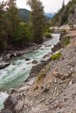 Squamish Fluss-Britisch-Columbia Kanada Stockfotografie