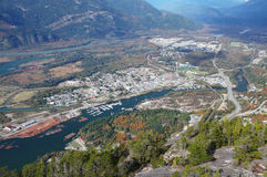 Squamish i British Columbia, Kanada Royaltyfria Foton