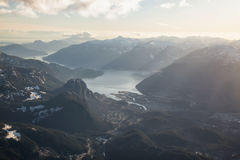 Squamish miasta antena Obraz Royalty Free