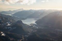 Squamish-Stadt-Antenne Lizenzfreies Stockbild