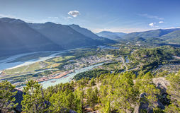 Squamish from the summit of the Chief Stock Photos