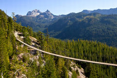 Squamish, suspension bridge Royalty Free Stock Image