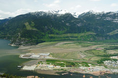 Squamish town and mountain stock images
