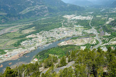 Squamish town and mountain royalty free stock image