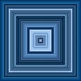 Squar bleu décroissant infini Image libre de droits