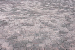 Squar and octagon brick floor Royalty Free Stock Photo