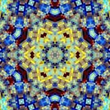 Square. Abstract symmetric  background from color squares Royalty Free Stock Images