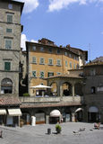 Square. Italian square in Cortona Stock Image