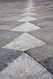 Square. Paving a square slabs of stone Royalty Free Stock Photo