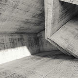 Square abstract architecture background, 3d Royalty Free Stock Photos