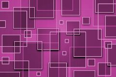 Square Abstract Background. With overlapping shapes Stock Images