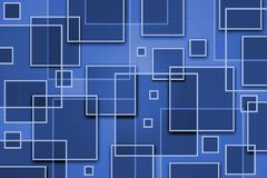 Square Abstract Background. With overlapping shapes Stock Photos