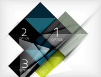 Square abstract background with option elements, paper design style glossy effects and shadows Royalty Free Stock Images