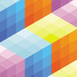Square abstract background. Vector illustration. Stock Image