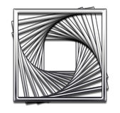 Square Abstract Design. Square repeated and twirled abstract design stock illustration