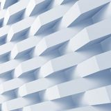 3d digital background, geometric pattern. Square abstract digital background, geometric pattern over wall. Blue toned 3d render illustration Royalty Free Stock Image