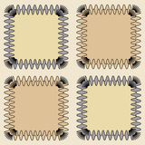 Square abstract framework. Abstract pattern with square framework vector illustration