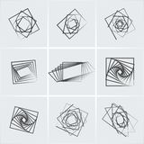 Square abstract icons Royalty Free Stock Photos