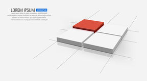 Square. Abstract illustration of square design Royalty Free Stock Photos