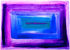Square abstract purple and blue painting Stock Photo