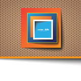 Square abstract template / logo Royalty Free Stock Images