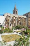 Square Agricol Perdiguier in the historic center of Avignon Stock Photos