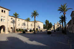 Square in Aigues-Mortes, France Royalty Free Stock Image