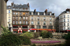Square Aitre de Saint Maclou in Rouen, France. Royalty Free Stock Photos