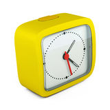 Square alarm clock on white background. 3d render image Royalty Free Stock Images