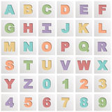 Square alphabet icons Royalty Free Stock Photos