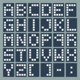 Square alphabet set. Stock Photo