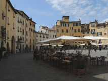 Lucca - square of the amphitheatre Stock Images