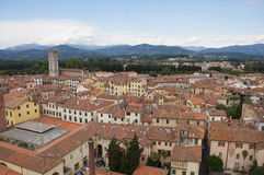 Square of Amphitheatre, Lucca, Italy Stock Images