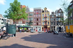 Square in Amsterdam Royalty Free Stock Photography