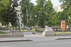 Square of Andrey Petrov on Kamennoostrovsky Avenue in St. Petersburg Stock Photos
