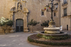 Square anf Episcopal Palace, Solsona, Lleida Province Royalty Free Stock Images
