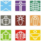 Square animal icons Royalty Free Stock Photos