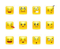 Square anime smiley Royalty Free Stock Photography