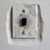 Square antique elevator call button Stock Images