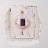 Square antique elevator call button Royalty Free Stock Images